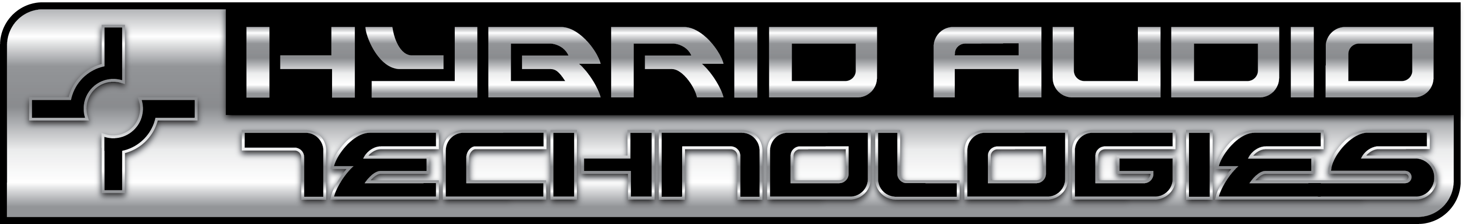 Hybrid Audio logo metallic